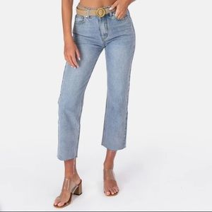 Adika Carter Frayed Straight Jeans